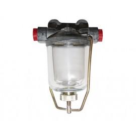 Filtre à essence complet avec cuve en verre