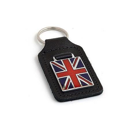 Porte-clés en cuir Union-Jack