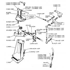 Câble d'accélérateur - boîte auto (E V12)