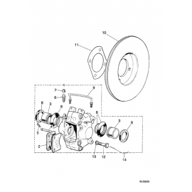 Disque de frein arrière (XJ S1-3, XJS)