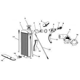 Radiateur de refroidissement (XK120)